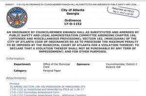 Atlanta Cannabis Decriminalization