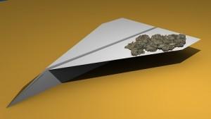 FlyingWithMarijuanaPaperAirplane