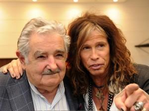 UruguayPresidentMujicaAndStevenTyler